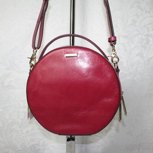 BRAHMIN LANE FUSCHIA TOPSAIL LEATHER CROSSBODY